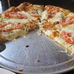 The margherita pizza