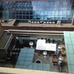 View of Courtyard Patio Restaurant Below