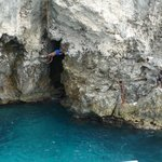 Cliff diving at Rick's cafe