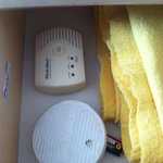 Smoke detectors with batteries out in drawer. July 11-13 2014