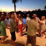 Greek Night dancing.