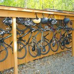 Mountain bikes are available for guests to use