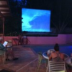 Surf videos. Muted. Great slow jams playing for atmosphere.