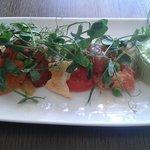 Yummy tomato and pea salad
