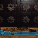 Puerta árabe y decoración.