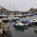 Polperro harbour, a short stroll from the hotel
