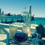 Vue du restaurant de la plage privée