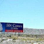 Little America's famous ice cream cone billboard