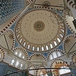 Magnificient dome with the tiles from İznik