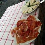 assiettes fromage et jambon