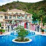 wedding photo pool & hotel
