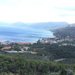 View of cala gonone from the mountain