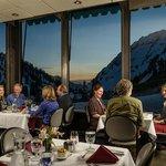 Alta Lodge dining room at night