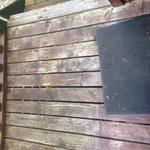 Patio around cabin