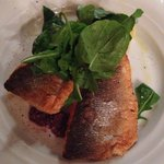 Baked sea bass and zesty mash