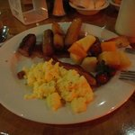 my breakfast at the buffet