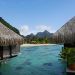 View from overwater bungalows