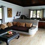 Lounge area with MASSIVE sofa