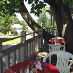 Dining on the porch