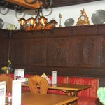 Hand carved wooden decor