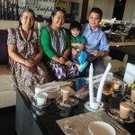 my family enjoying an afternoon tea:-)