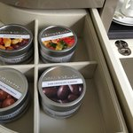 Gourmet treats in a snazzy cabinet