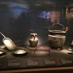 Cooking utensils at Pompeii exhibit