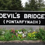 Devil's Bridge station signage