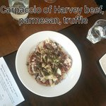 Carpaccio of Harvey beef