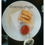 Polenta chips. Lovely tomato salsa.