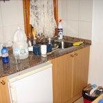 Cocina pequeña y falta microondas