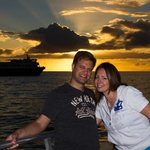 Great whale watch w a professional photographer at sunset. 2014.