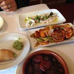 Pulpo, Fluke, Chorizo & Figs, and Empanadas