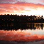 beautiful sunset over offut Lake