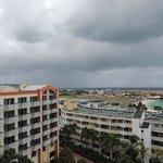 Balcony view. Beach, runway, island!!