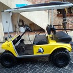 OUR YELLOW GOLF CART