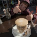 Thumbs up for coffee!!!!