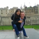 Eline and Blaine at the Tower of London on our Yellow Moon Tour
