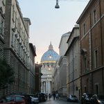 Streets of Vatican City-walking back to room