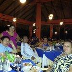 Compartiendo una cena con la Familia