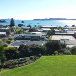 View from the balcony looking over Paihia and the bay