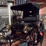 One of the more interesting exhibits - a horseless carriage!