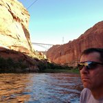 Glen Canyon Dam where boat trip begins