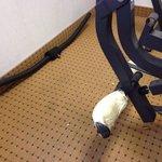 Taped up weight machine