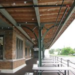 It is an old railroad depot.  Love the reuse of the building.