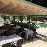 terrace for breakfast by pool