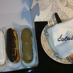 Welcome eclairs - yummy!