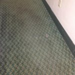 torn up carpet