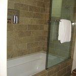 The shower has mega pressure!