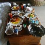 Sumptuous room service breakfast =)